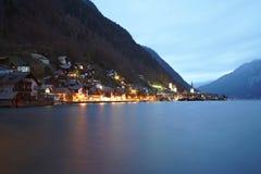 Villaggio Austria di Hallstatt fotografia stock libera da diritti