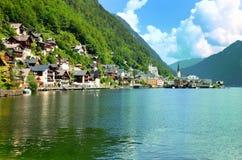 Villaggio Austria di Hallstatt Immagini Stock Libere da Diritti