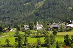 Villaggio austriaco Fotografie Stock Libere da Diritti