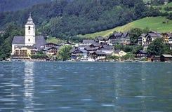 Villaggio austriaco Fotografia Stock Libera da Diritti
