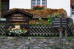 Villaggio austriaco Tragoss Fotografie Stock Libere da Diritti