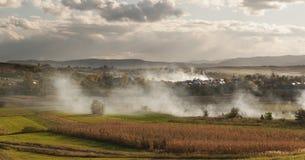 Villaggio in autunno Immagini Stock Libere da Diritti