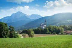 Villaggio in Baviera, Germania Fotografia Stock Libera da Diritti