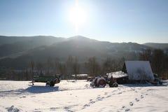 Villaggio in Beskidy Fotografia Stock Libera da Diritti
