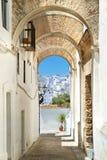 Villaggio bianco in Andalusia, Spagna Fotografie Stock Libere da Diritti