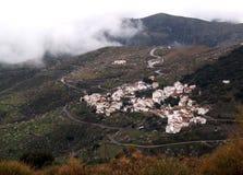Villaggio bianco degli altopiani, Alpujarra Fotografia Stock