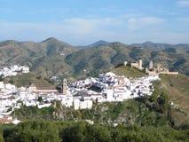 Villaggio bianco di Alora, Andalusia Immagini Stock Libere da Diritti