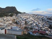 Villaggio bianco di Alora, Andalusia Fotografie Stock