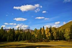 Villaggio bianco di Altay Xinjiang Haba Fotografia Stock Libera da Diritti