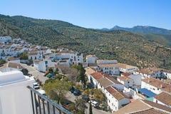 Villaggio bianco di Andalusia. immagine stock