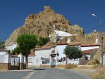 Villaggio bianco di Guadix Immagine Stock