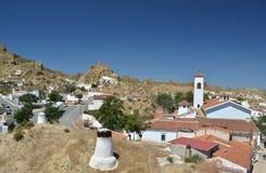 Villaggio bianco di Guadix Immagini Stock