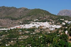 Villaggio bianco, Frigiliana, Andalusia. Fotografia Stock