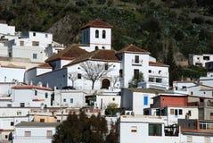 Villaggio bianco, Torvizcon, Andalusia, Spagna. Fotografia Stock Libera da Diritti