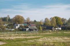 Villaggio bielorusso Fotografia Stock