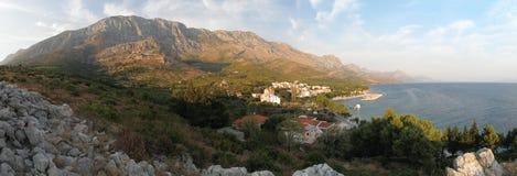 Villaggio Blato su Makarska riviera nel Croatia Immagine Stock Libera da Diritti
