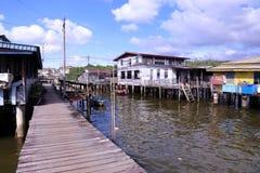 Villaggio Brunei dell'acqua di Ayer del Kampong Immagine Stock Libera da Diritti