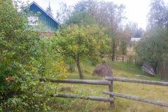 Villaggio in Carpathians nel auturmn Fotografia Stock Libera da Diritti