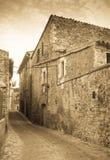 Villaggio catalano La Pera, Catalogna Immagini Stock Libere da Diritti