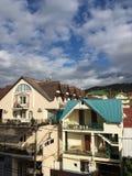 Villaggio caucasico Immagine Stock