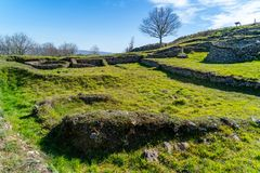 Villaggio celtico Castromao fotografia stock libera da diritti