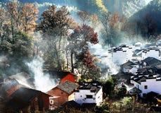 Villaggio cinese Fotografie Stock