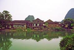 Villaggio cinese antico Fotografie Stock