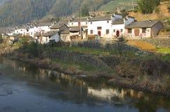 Villaggio cinese del paese Fotografia Stock