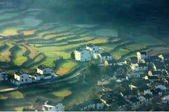 Villaggio cinese e terrazzo Fotografia Stock Libera da Diritti