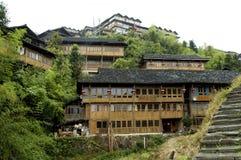 Villaggio cinese vicino a Guilin Fotografia Stock