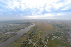 Villaggio con una veduta panoramica immagine stock libera da diritti