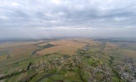 Villaggio con una veduta panoramica fotografia stock libera da diritti