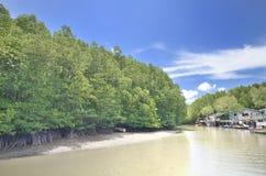 Villaggio costiero Immagine Stock Libera da Diritti
