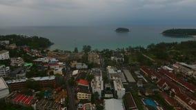 Villaggio costiero vicino ad Oceano Indiano al giorno piovoso di estate Fotografia Stock Libera da Diritti