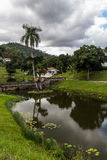 Villaggio cubano rurale Las Terrazas accanto al lago san Juan Fotografia Stock Libera da Diritti