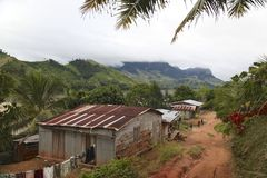 Villaggio dal Madagascar Fotografia Stock