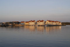 Villaggio dal mare fotografie stock