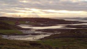 Villaggio dal mare in Norvegia Fotografia Stock Libera da Diritti