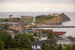 Villaggio dall'oceano fotografia stock libera da diritti