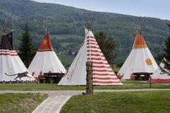 Villaggio degli nativi americani immagini stock