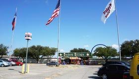 Villaggio dei commercianti situato in grande prateria, il Texas Fotografie Stock Libere da Diritti