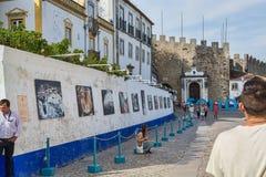 Villaggio dei obidos Portogallo Fotografia Stock