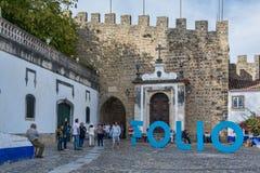 Villaggio dei obidos Portogallo Fotografia Stock Libera da Diritti