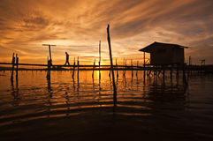 Villaggio dei pescatori Fotografie Stock Libere da Diritti