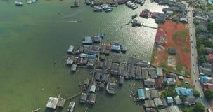 Villaggio dei pescatori alla bocca video d archivio