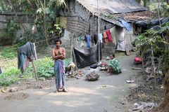 Villaggio del bengalese Immagini Stock