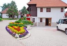 Villaggio del cottage Fotografie Stock Libere da Diritti