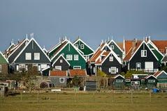 Villaggio del cottage del pescatore tradizionale Fotografia Stock Libera da Diritti