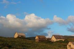 Villaggio del  di Ð nei Carpathians orientali Fotografia Stock