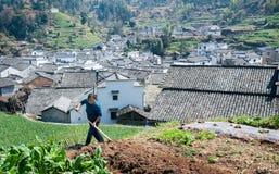 Villaggio del farmwife Fotografie Stock